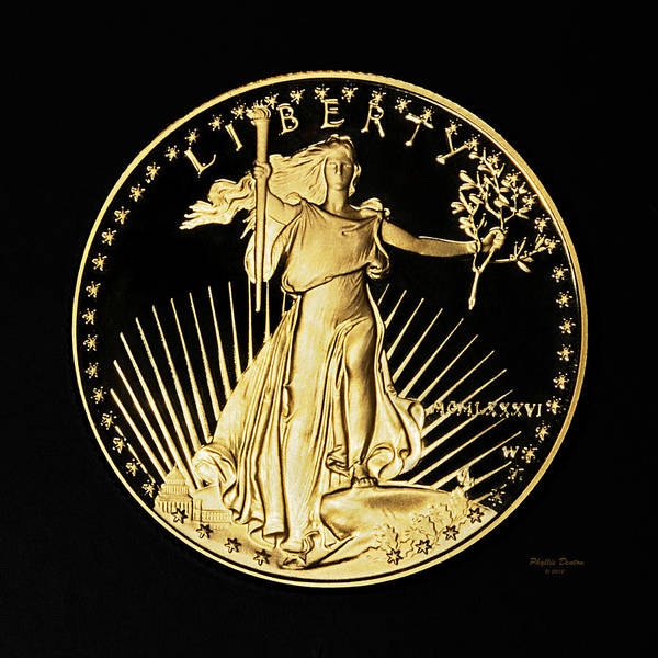 Legal Tender Photograph - Gold Coin Front by Phyllis Denton