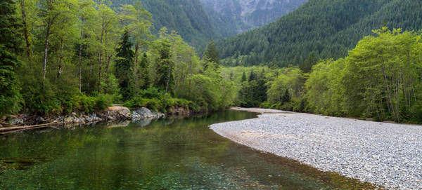 Metro Vancouver Wall Art - Photograph - Gold Creek Panoramic by Michael Russell