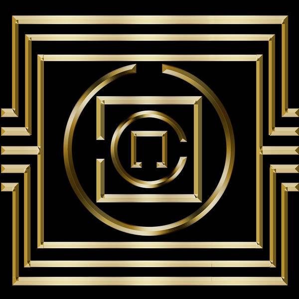 Digital Art - Gold Deco 1 by Chuck Staley