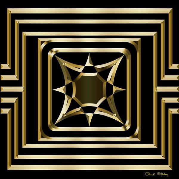 Digital Art - Gold Deco 3 by Chuck Staley