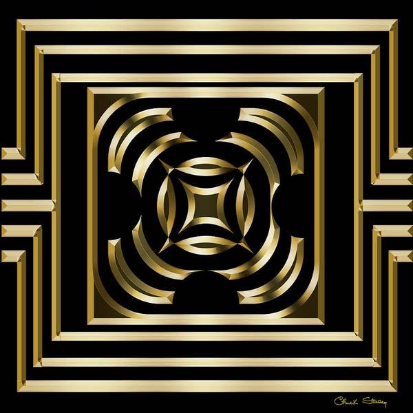 Digital Art - Gold Deco 4 by Chuck Staley