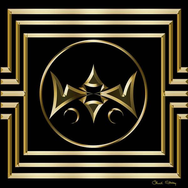 Digital Art - Gold Deco 5 by Chuck Staley