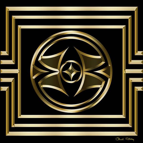 Digital Art - Gold Deco 6 by Chuck Staley