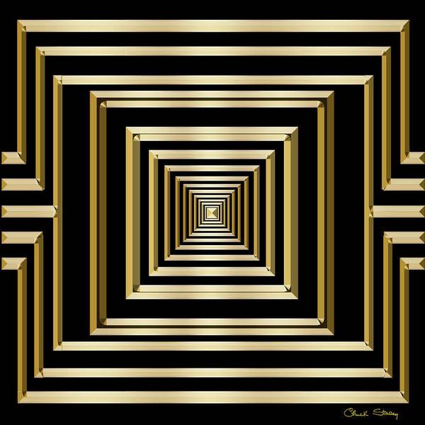 Digital Art - Gold Deco 7 by Chuck Staley