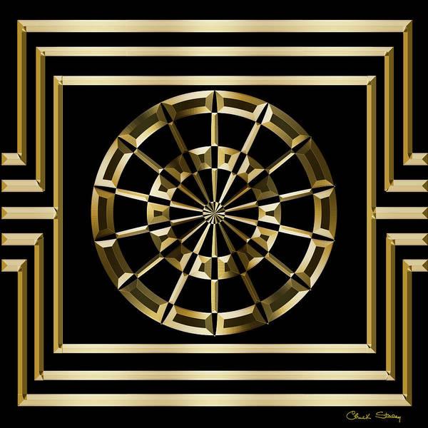 Digital Art - Gold Deco 8 by Chuck Staley