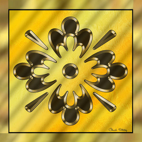 Digital Art - Gold Design 10 by Chuck Staley