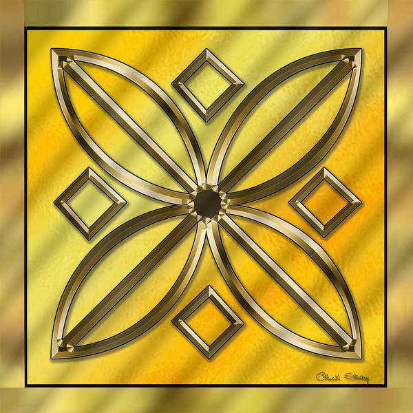 Digital Art - Gold Design 11 by Chuck Staley
