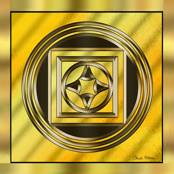 Digital Art - Gold Design 13 by Chuck Staley