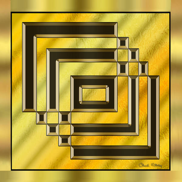 Digital Art - Gold Design 14 by Chuck Staley