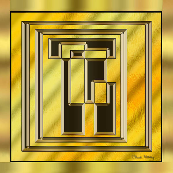 Digital Art - Gold Design 15 by Chuck Staley