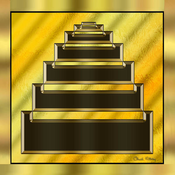 Digital Art - Gold Design 16 by Chuck Staley