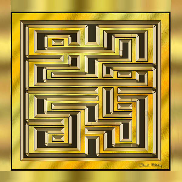 Digital Art - Gold Design 17 by Chuck Staley