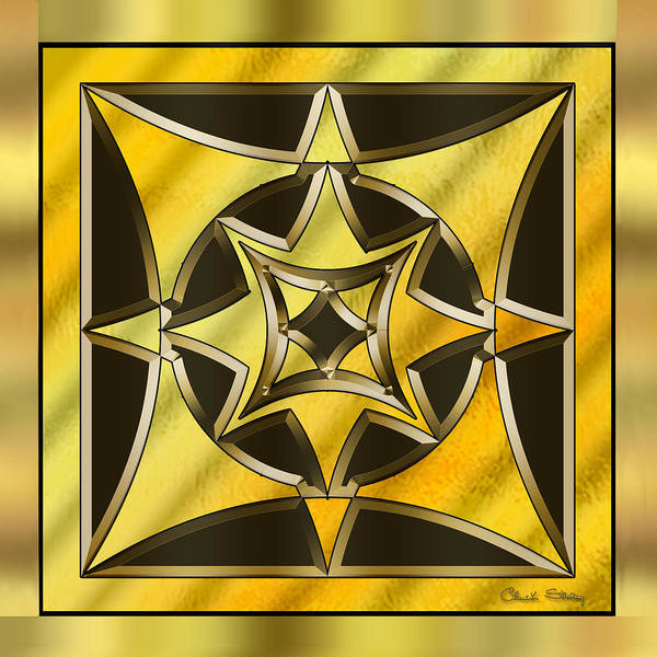 Digital Art - Gold Design 18 by Chuck Staley