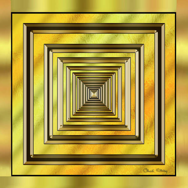 Digital Art - Gold Design 19 by Chuck Staley