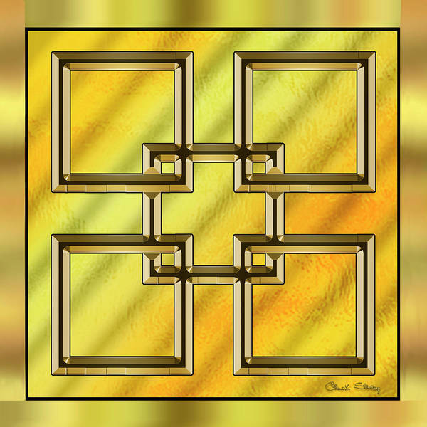 Digital Art - Gold Design 2 by Chuck Staley