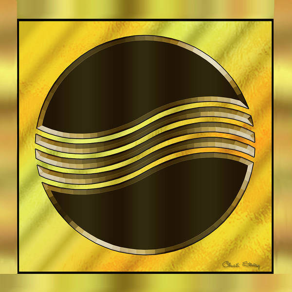 Digital Art - Gold Design 20 by Chuck Staley