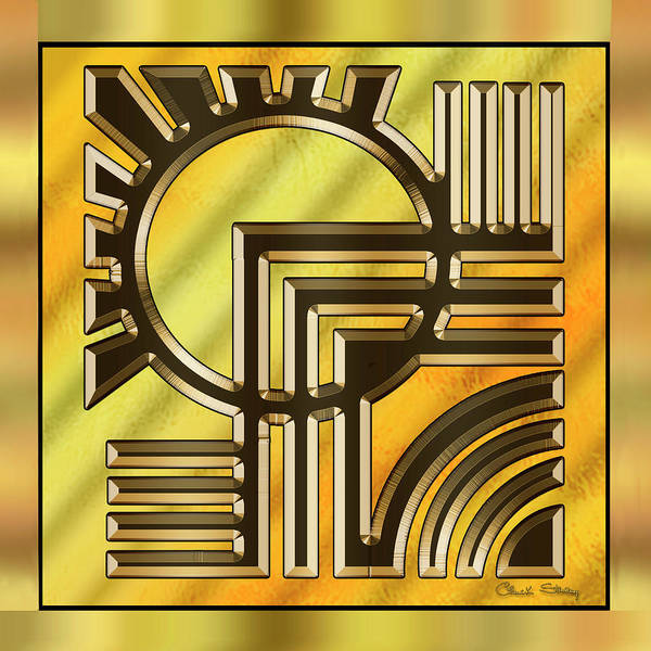 Digital Art - Gold Design 21 by Chuck Staley