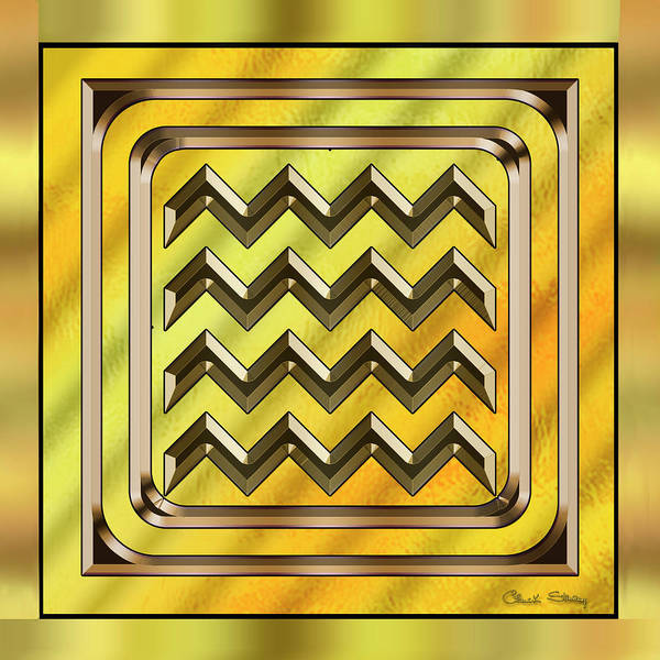 Digital Art - Gold Design 22 by Chuck Staley