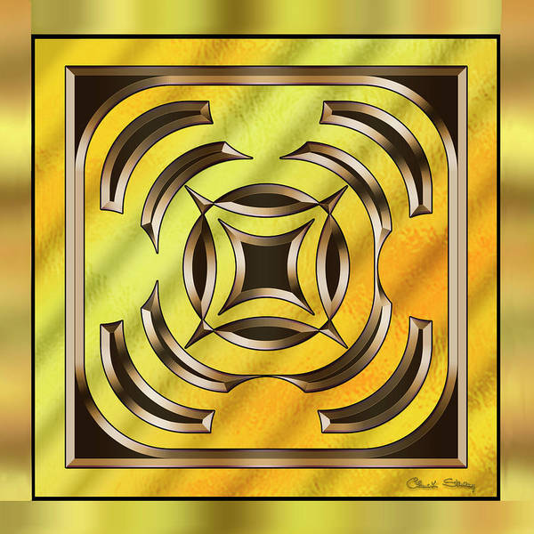 Digital Art - Gold Design 23 by Chuck Staley