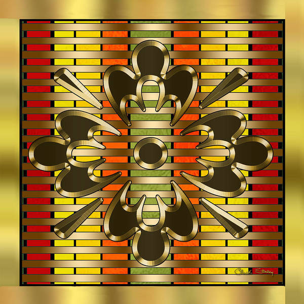 Digital Art - Gold Design 3 by Chuck Staley