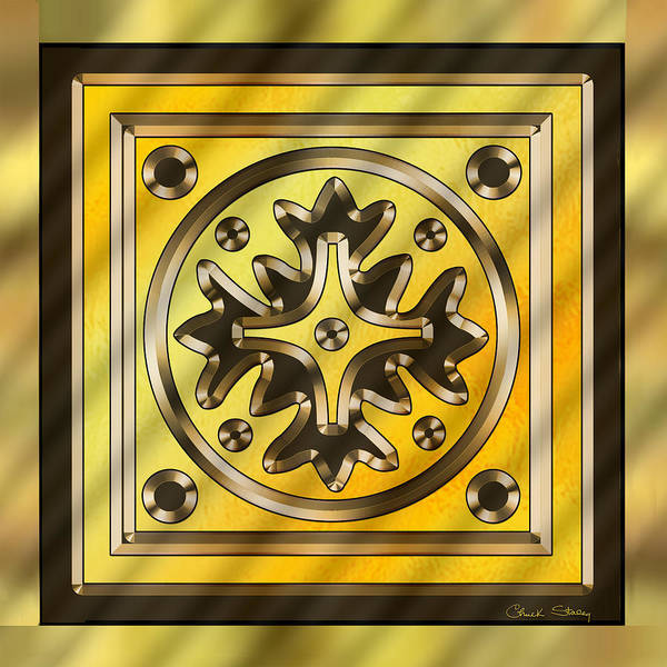 Digital Art - Gold Design 5  by Chuck Staley