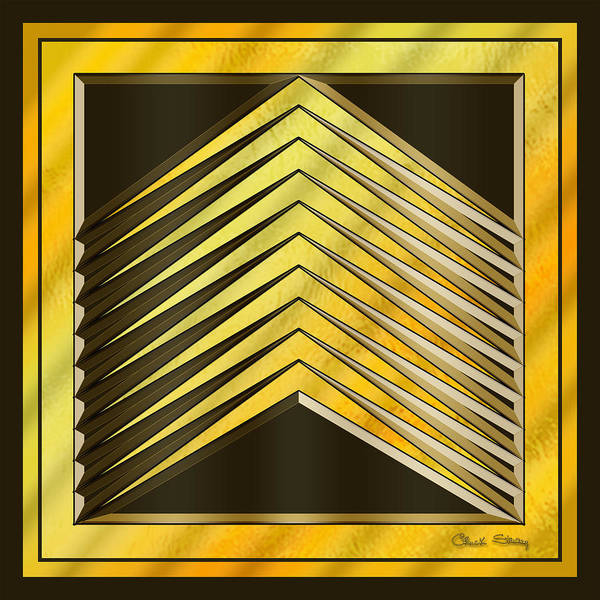 Digital Art - Gold Design 6 by Chuck Staley