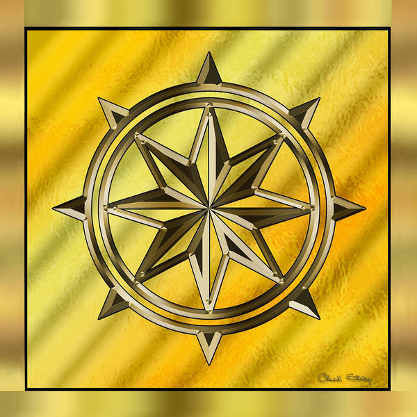 Digital Art - Gold Design 7 by Chuck Staley