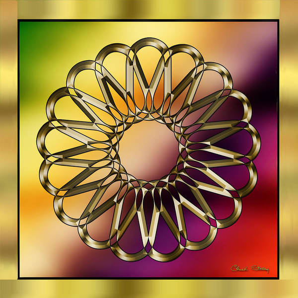 Digital Art - Gold Design 9 by Chuck Staley