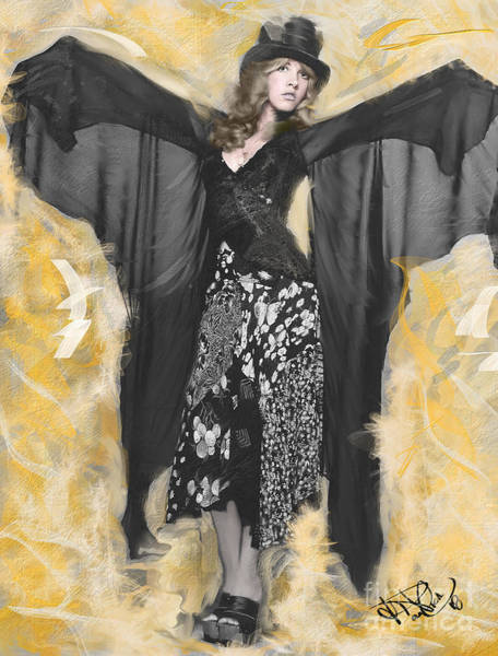 Stevie Nicks Digital Art - Gold Dust Woman by Donald Pavlica