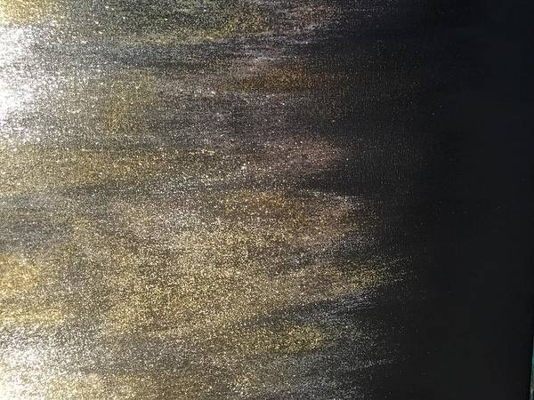Painting - Gold Dusty Night by Alisha Anglin