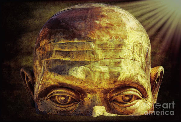 Thai Wall Art - Photograph - Gold Face by Adrian Evans