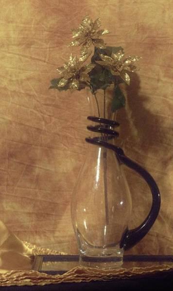 Gold Flower Vase Art Print