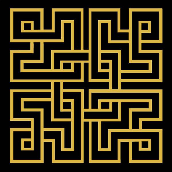 Digital Art - Gold Geo 6 by Chuck Staley