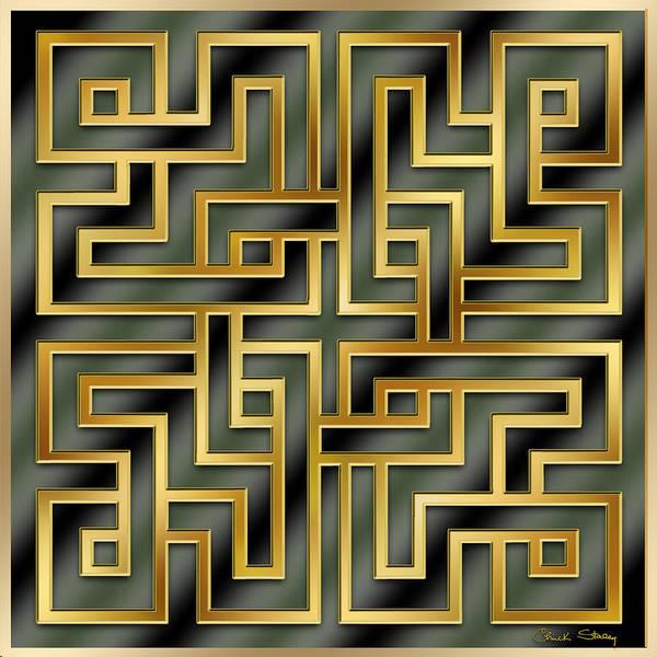 Digital Art - Gold Geo 7 by Chuck Staley