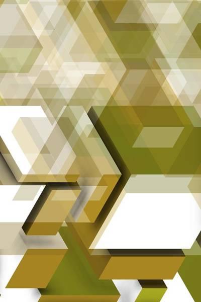 Digital Art - Gold Geometric Composition by Alberto RuiZ