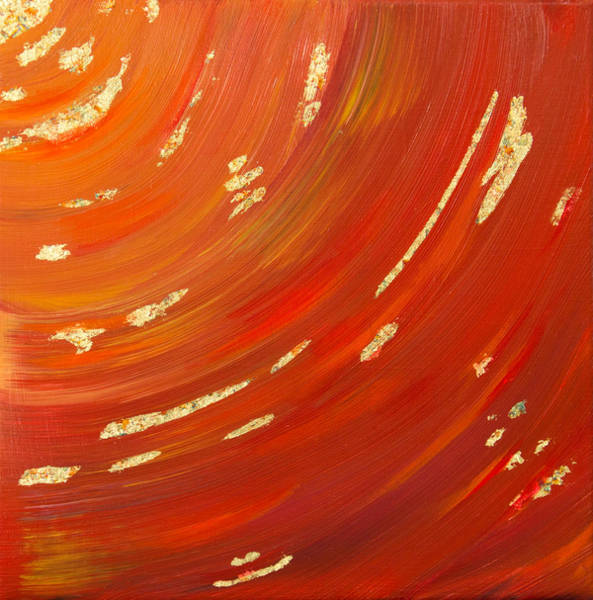 Sacred Ground Painting - Gold In The Canyon by Deb Breton