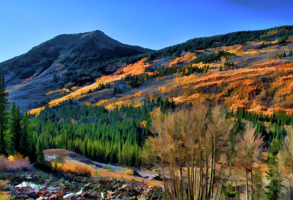 Digital Art - Gold In The Rockies by Charles Muhle
