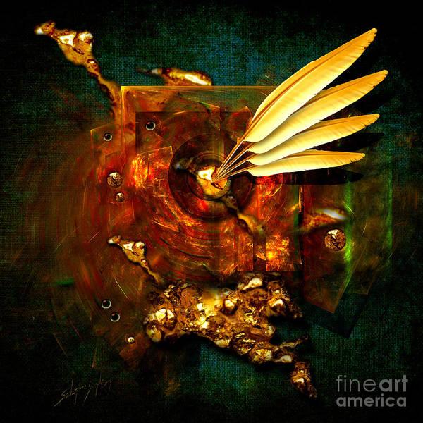 Painting -  Gold Inkpot by Alexa Szlavics