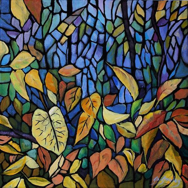 Painting - Gold Leaf by Joanne Smoley