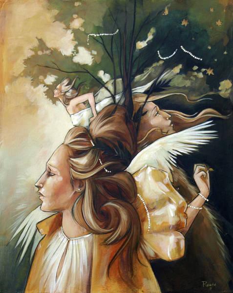 Gold Leaves Painting - Gold Leaf Mysticism by Jacque Hudson