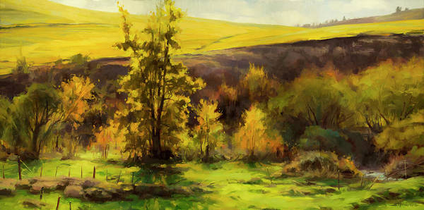 Rural Painting - Gold Leaf by Steve Henderson