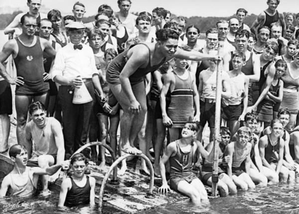 Diving Suit Photograph - Gold Medalist Warren Kealoha by Underwood Archives