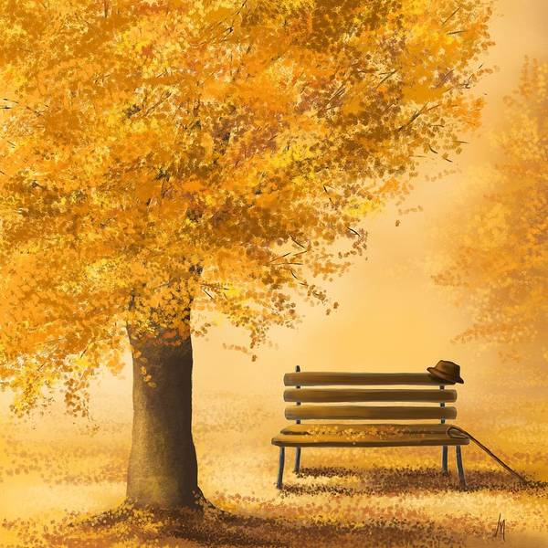 Gold Painting - Gold Memories by Veronica Minozzi