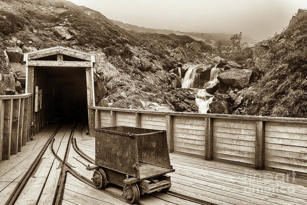 Photograph - Gold Mine Entrance In Sepia by Paul Quinn