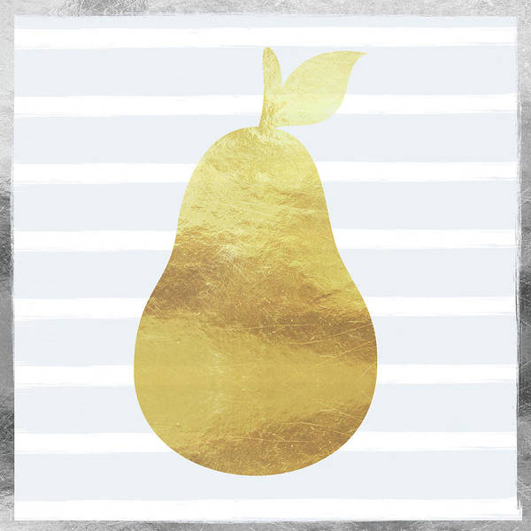 Wall Art - Digital Art - Gold  Pear - Art By Linda Woods by Linda Woods