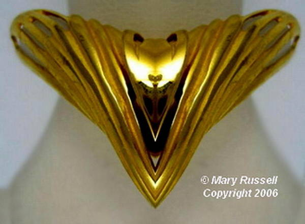 Digital Art - Gold Pin by Mary Russell