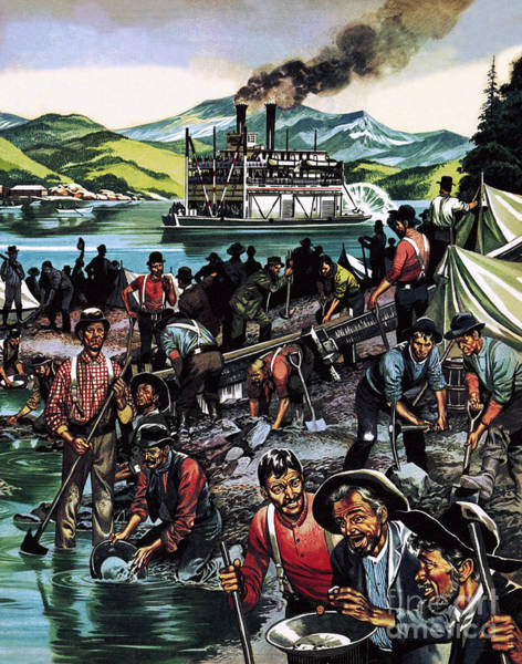Wall Art - Painting - Gold Rush by Ron Embleton