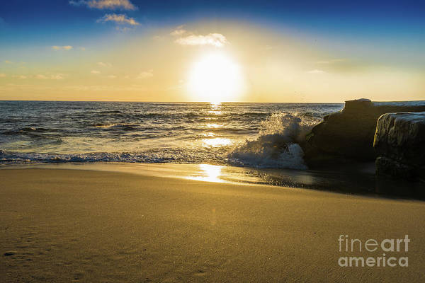 Photograph - Gold Sand And Sunset At Windansea Beach by David Levin