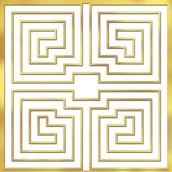 Digital Art - Gold Stripes Transparent by Chuck Staley