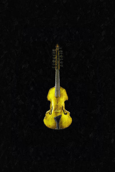 Painting - Gold Viola by Tony Rubino